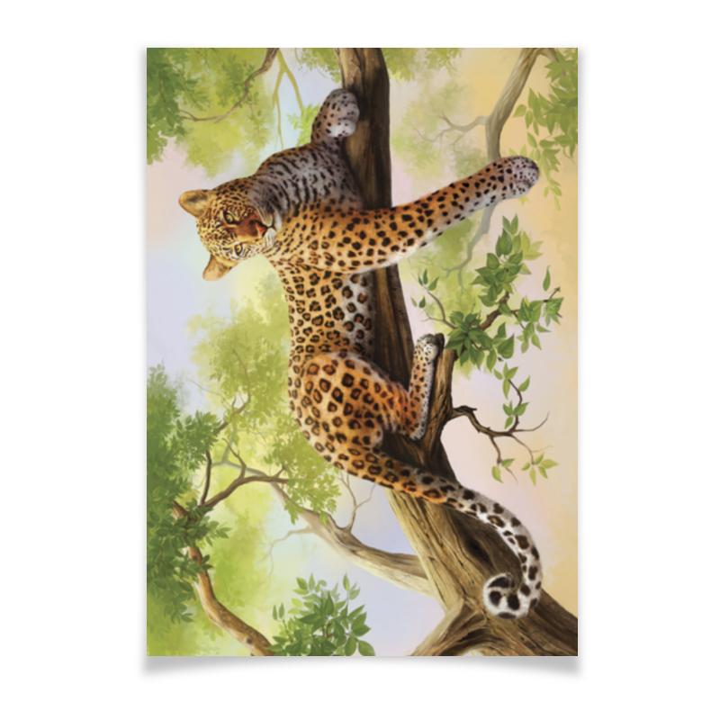 Плакат A2(42x59) Printio Леопард плакат a2 42x59 printio противостояние