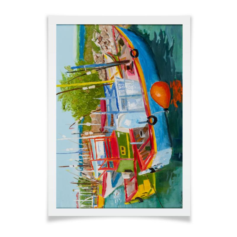 купить Плакат A2(42x59) Printio Рыбацкие лодки в мирисе недорого