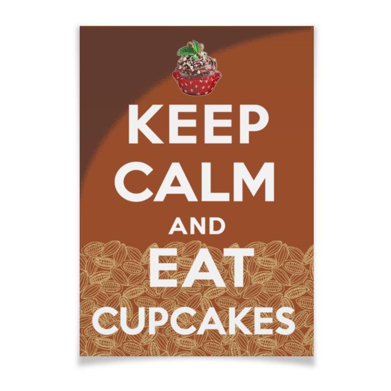 лучшая цена Плакат A2(42x59) Printio «keep calm and eat cupcakes»