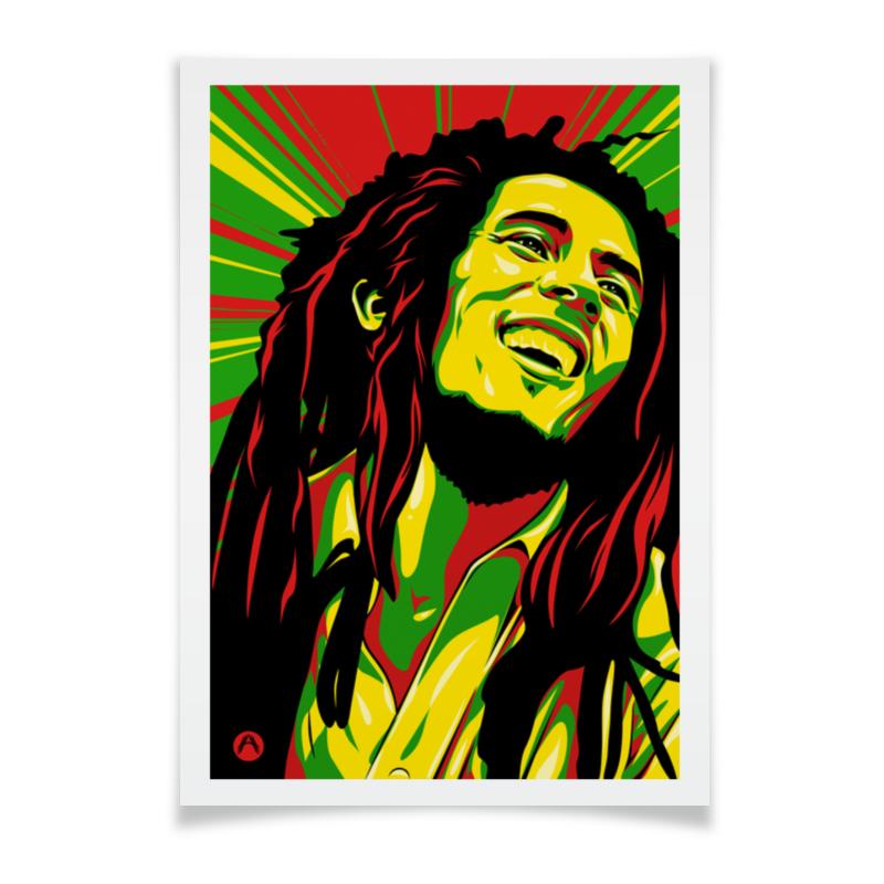 Плакат A2(42x59) Printio Боб марлей