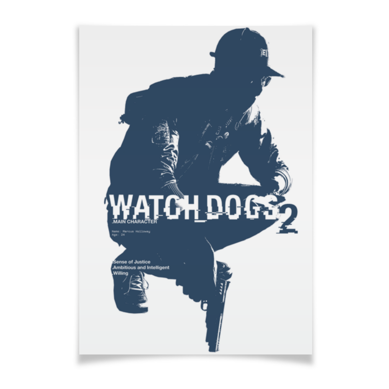 Плакат A2(42x59) Printio Watch dogs 2