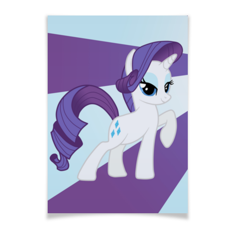 Плакат A2(42x59) Printio Rarity color line чехол для ноутбука 14 printio rarity color line