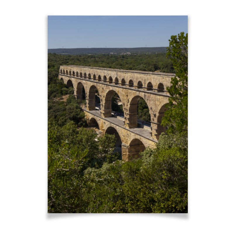 Плакат A2(42x59) Printio Акведук ле трезор дю руа красное