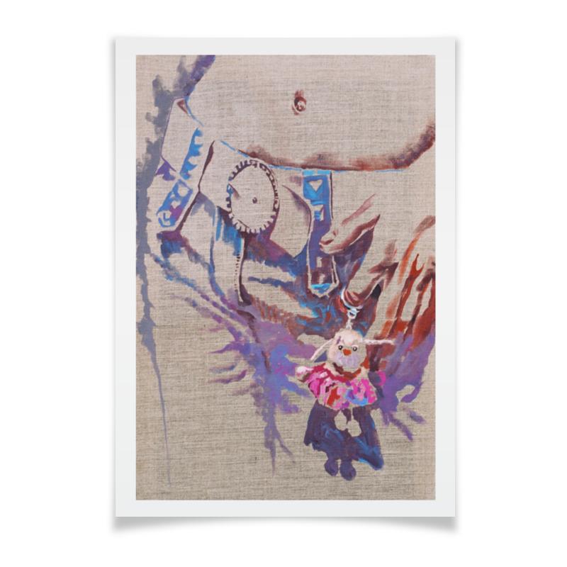 Плакат A2(42x59) Printio Маленький помощник