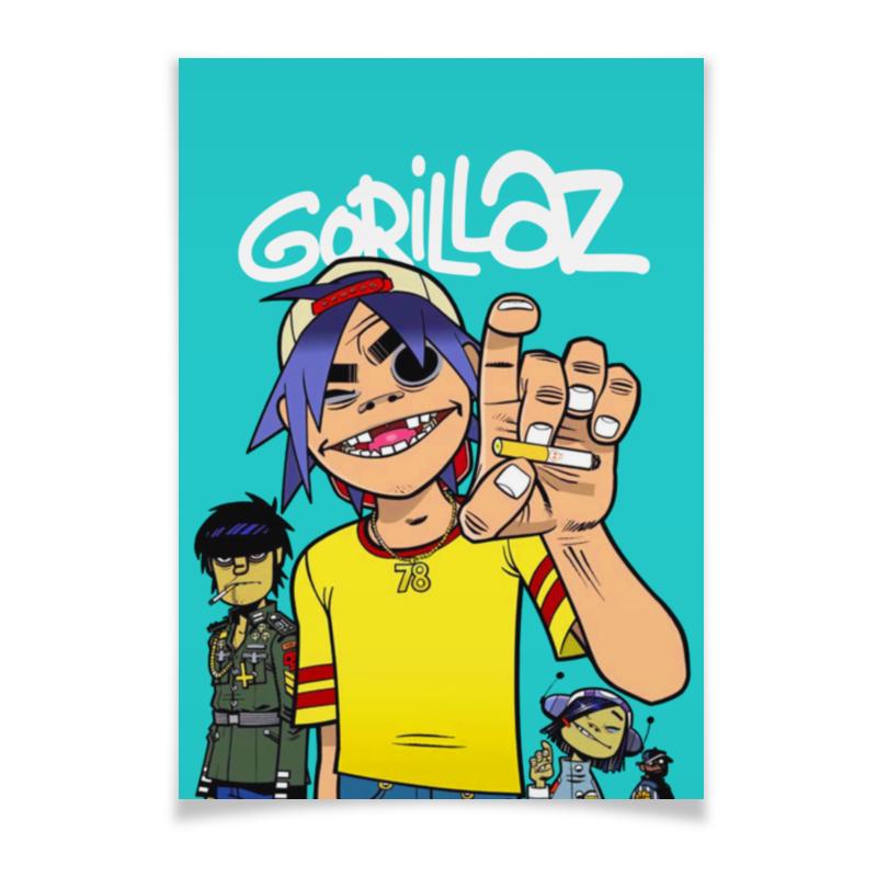 Плакат A2(42x59) Printio Gorillaz плакат a2 42x59 printio драко малфой