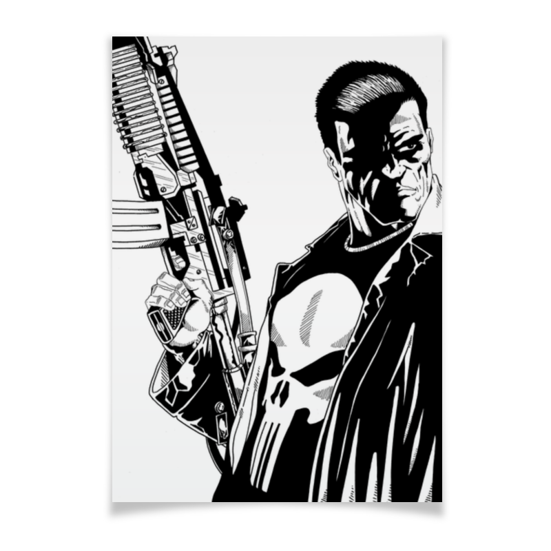 Плакат A2(42x59) Printio Каратель (the punisher) тетрадь на клею printio каратель the punisher