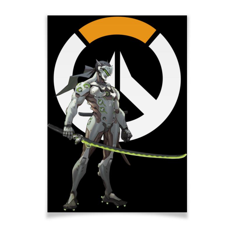Плакат A2(42x59) Printio Overwatch genji / овервотч гендзи плакат a2 42x59 printio противостояние