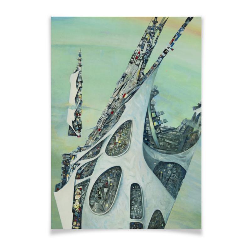 Плакат A2(42x59) Printio Космическая база