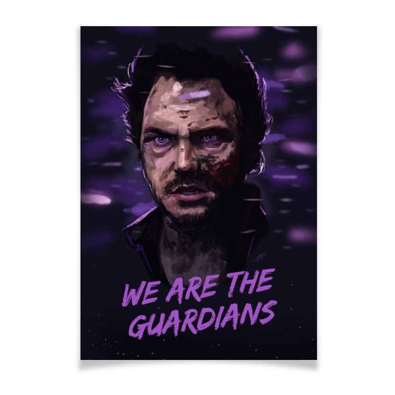 Плакат A2(42x59) Printio Star lord майка print bar star lord