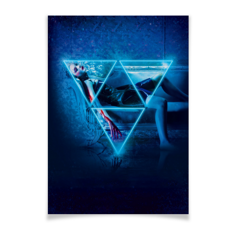 Плакат A2(42x59) Printio Неоновый демон nutrilon 1 молочная смесь premium с рождения 800