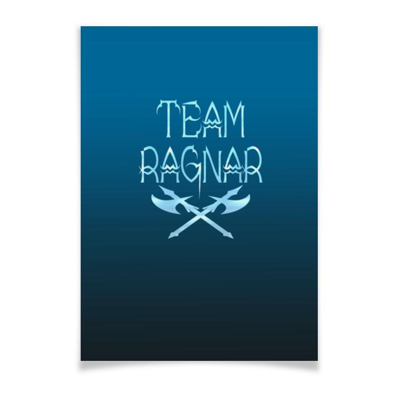 Плакат A2(42x59) Printio Team ragnar