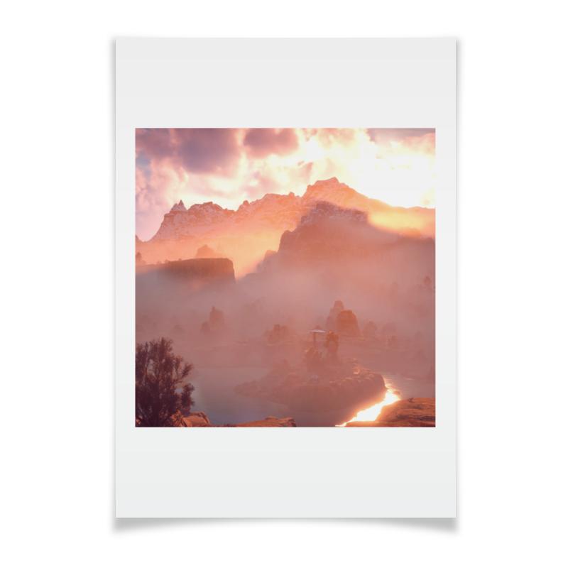 Плакат A2(42x59) Printio Horizon zero dawn