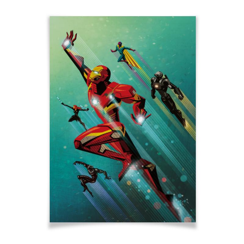 Плакат A2(42x59) Printio Железный человек плакат a2 42x59 printio противостояние
