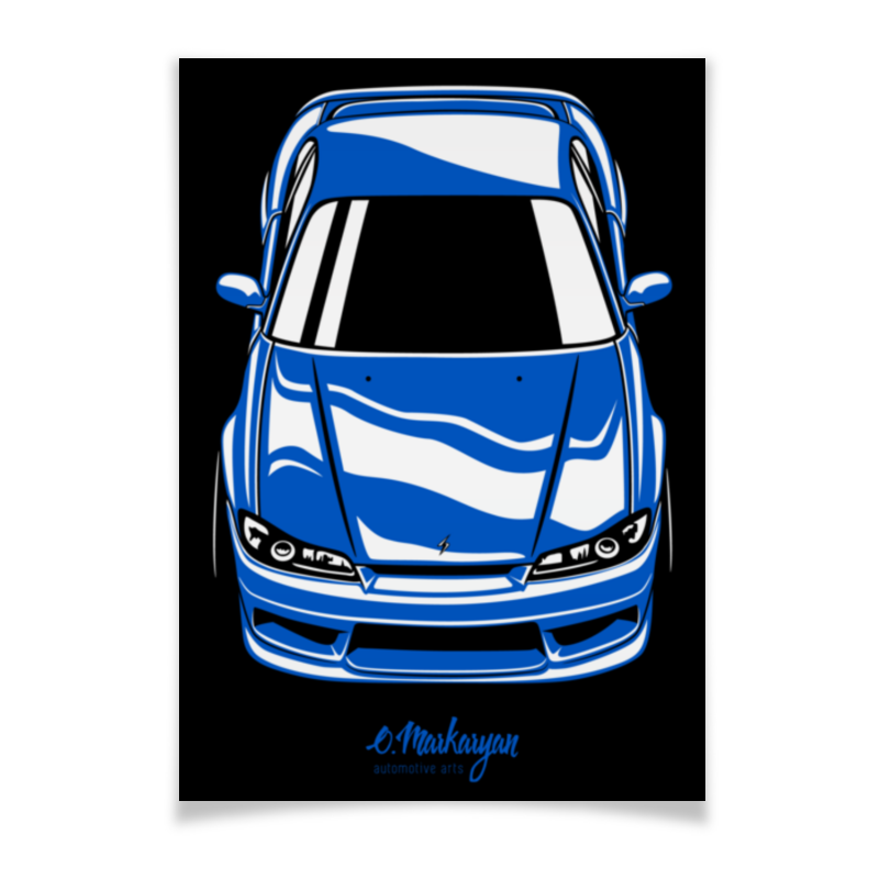 Плакат A2(42x59) Printio Silvia s15