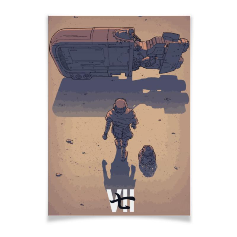 Плакат A2(42x59) Printio Star wars / akira ray's speeder/ спидер рэй