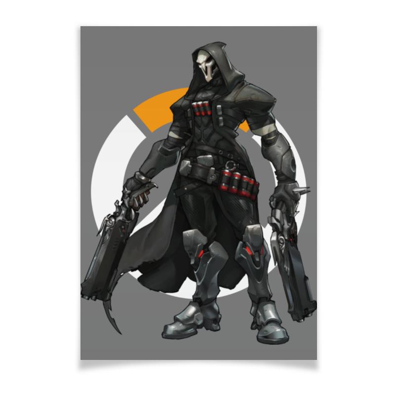 Плакат A2(42x59) Printio Overwatch reaper / жнец овервотч плакат a2 42x59 printio противостояние
