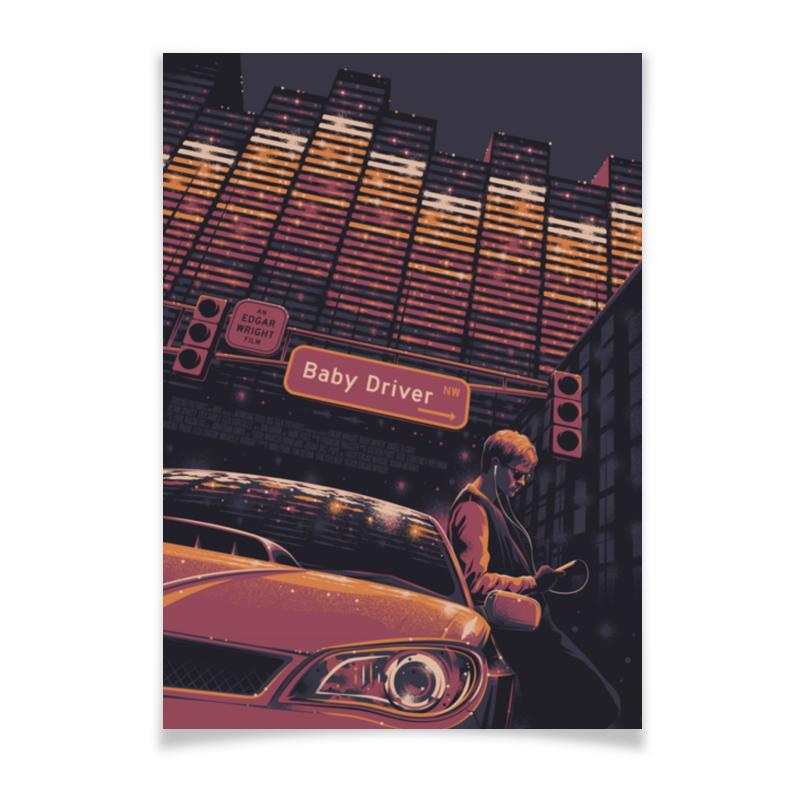 Плакат A2(42x59) Printio Малыш на драйве / baby driver new original detla servo driver ecma ca0602ss asd a2 seria