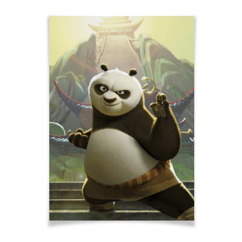 Плакат A2(42x59) Printio Кунг-фу панда цена и фото