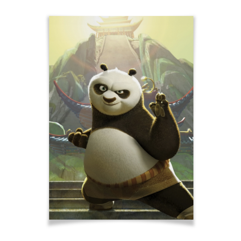 Плакат A2(42x59) Printio Кунг-фу панда дригс скот кунг фу панда неистовая пятерка