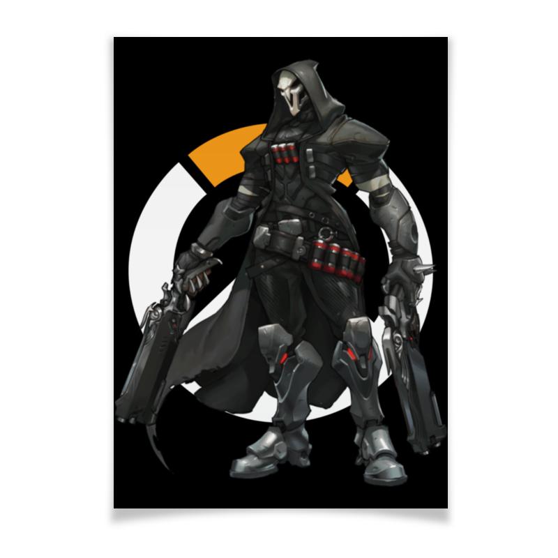 Плакат A2(42x59) Printio Overwatch reaper / жнец овервотч
