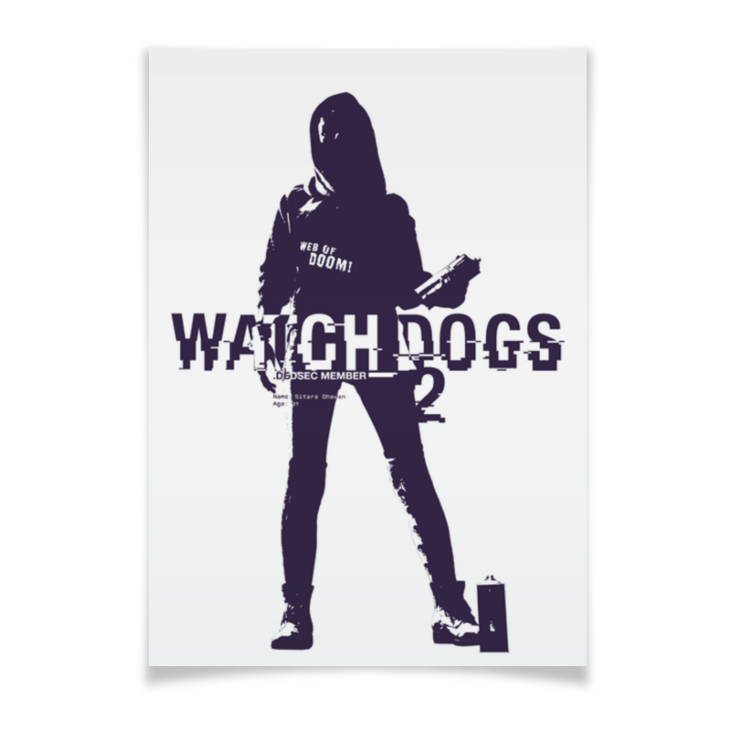 Плакат A2(42x59) Printio Watch dogs 2 battersea dogs