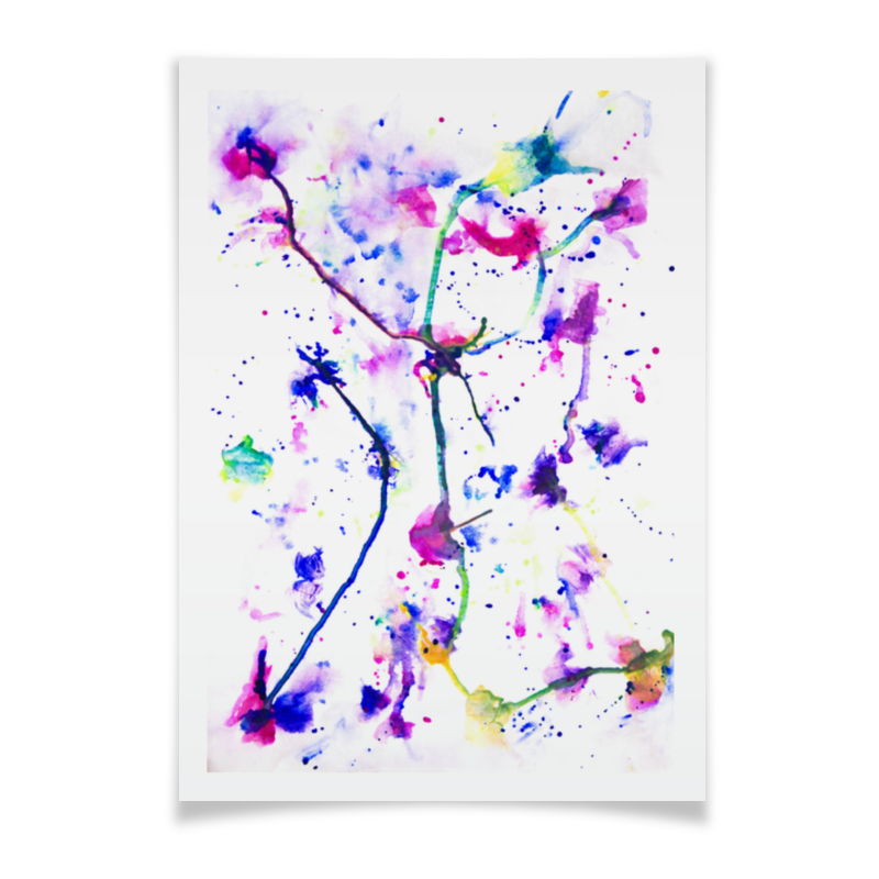 Плакат A2(42x59) Printio Фиолетовое притяжение букет притяжение