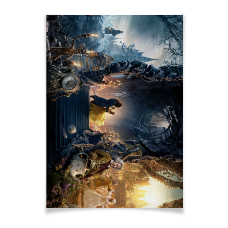 Плакат A2(42x59) Printio Красавица и чудовище красавица и чудовище
