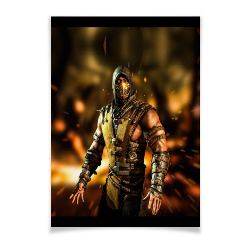 Printio Mortal kombat (scorpion) плакат a2 42x59 printio mortal kombat scorpion