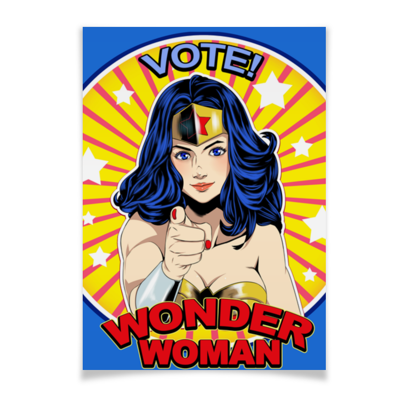 Плакат A2(42x59) Printio Wonder woman плакат a2 42x59 printio хоббит