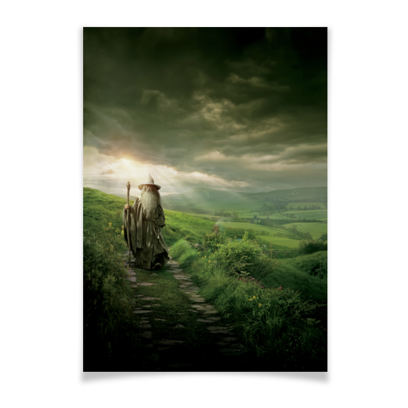 Плакат A2(42x59) Printio Гэндальф плакат a2 42x59 printio силузт