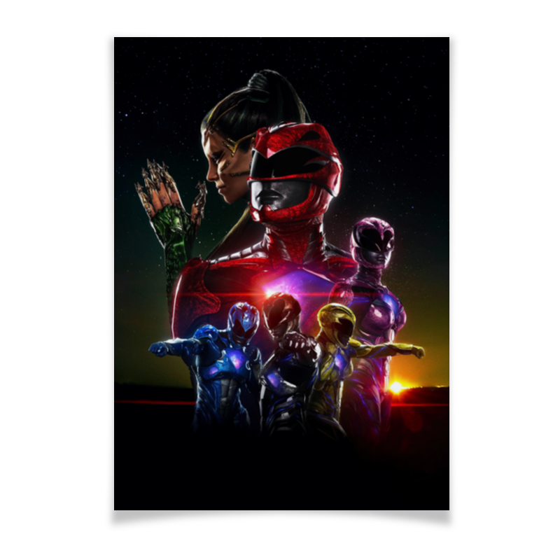 Плакат A2(42x59) Printio Power rangers плакат a2 42x59 printio драко малфой
