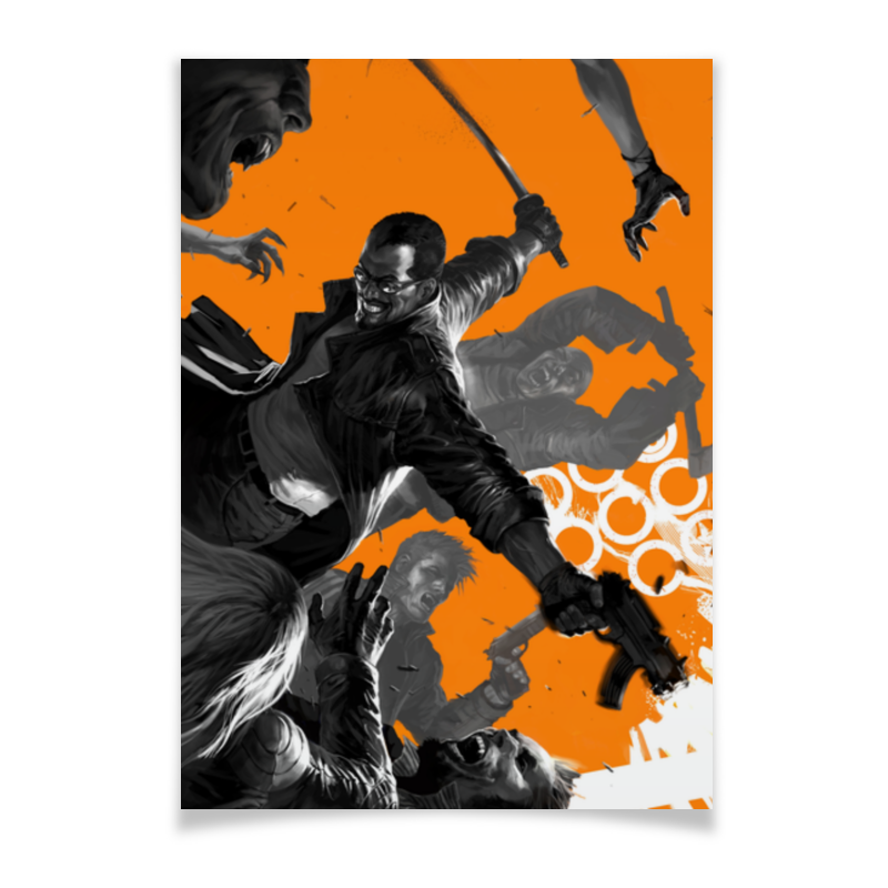 Плакат A2(42x59) Printio блэйд chokocat котпул молочный шоколад 50 г
