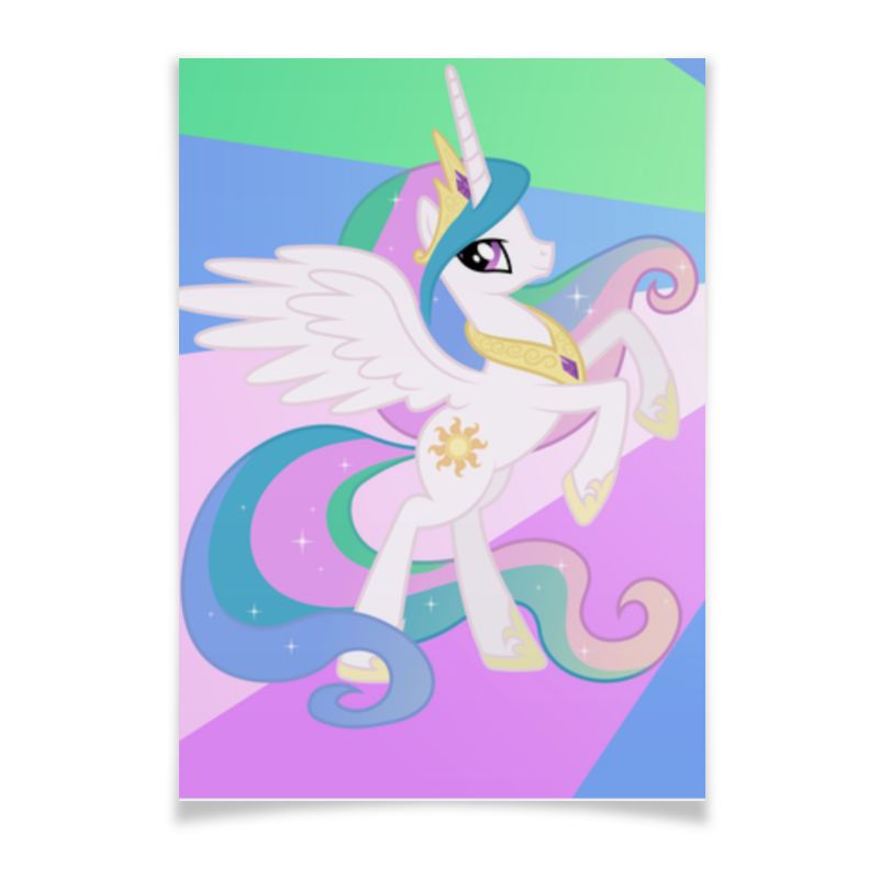 Плакат A2(42x59) Printio Princess celestia color line плакат a2 42x59 printio драко малфой