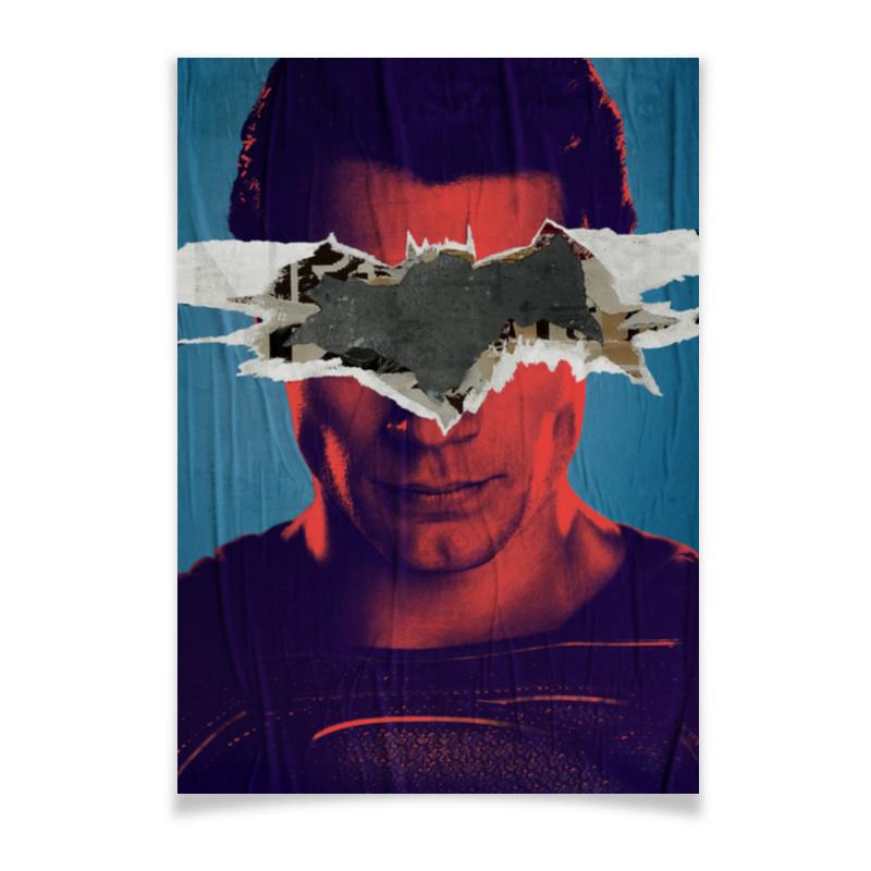 Плакат A2(42x59) Printio Бэтмен против супермена evaflor подарочный набор whisky vintage мужской туалетная вода 100 мл дезодорант 150 мл