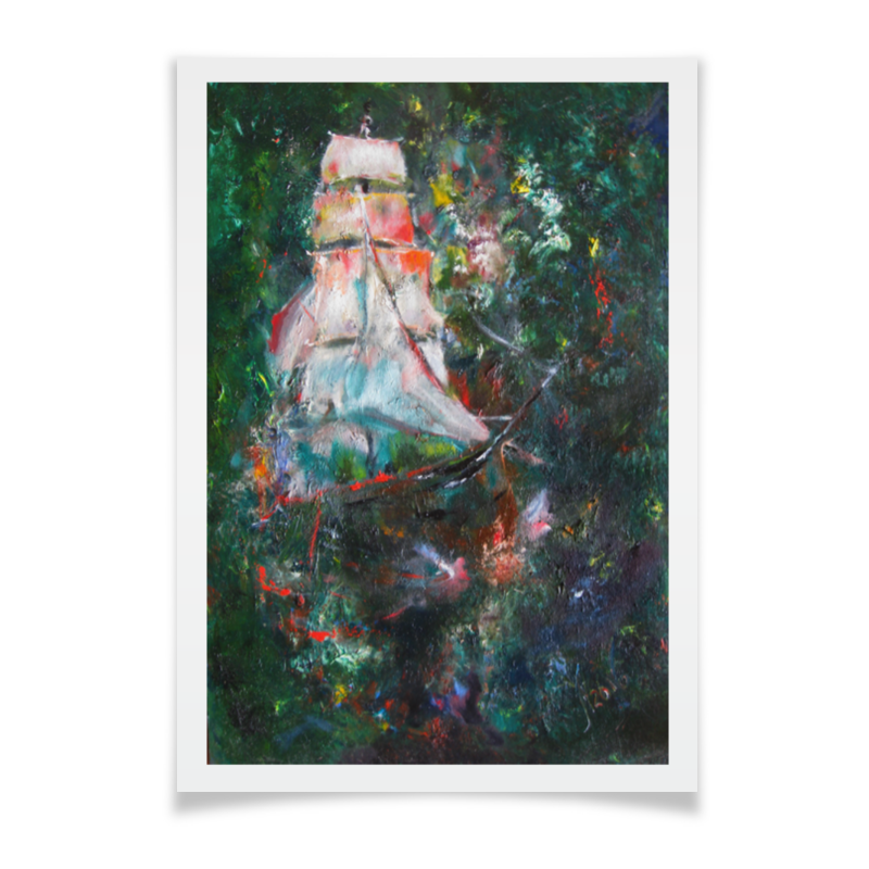 купить Плакат A2(42x59) Printio Летучий голландец онлайн