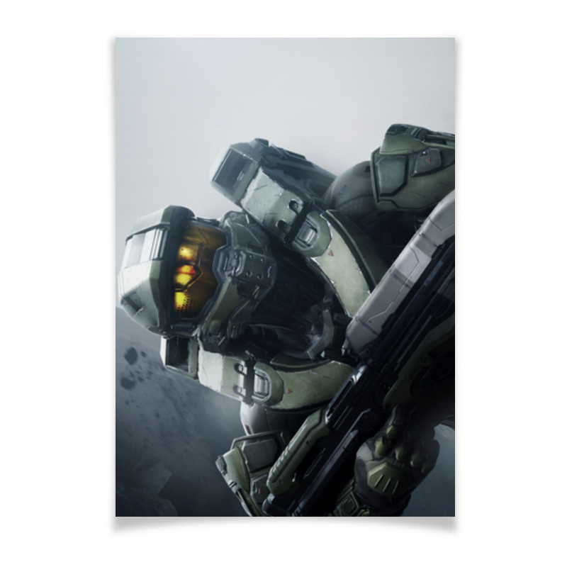 Плакат A2(42x59) Printio Halo / master chief chief cms012018 black extension adjust column 12 18