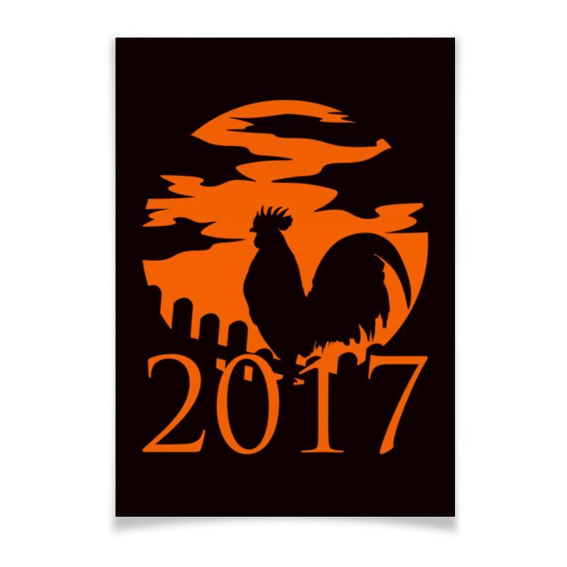 Плакат A2(42x59) Printio Год петуха перья петуха veniard schlappen