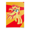 "Плакат A2(42x59) ""Sunset Shimmer Color Line"" - sun, cutiemark, sunset shimmer"