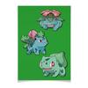 "Плакат A2(42x59) ""Эволюция Бульбазавра"" - нинтендо, бульбазавр, покемон го, венузавр, ивизавр"