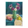 """Плакат A2(42x59) """"Астры"""" - цветы, картина, натюрморт, ваза, гуашь"""