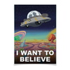 "Плакат A2(42x59) ""Рик и Морти - I want to believe"" - нло, rick and morty, рик и морти"