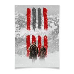 """Плакат A2(42x59) """"Восьмерка - Вешатель и Пленница"""" - кровь, tarantino, тарантино, омерзительная восьмерка, hateful eight"""