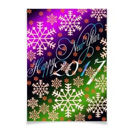 """Плакат A2(42x59) """"Снежинки снега"""" - праздник, новый год, снег, снежинки, 2017"""