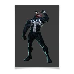 """Плакат A2(42x59) """"Venom / Веном"""" - venom, marvel, spiderman, марвел, веном"""