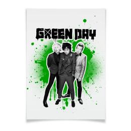 "Плакат A2(42x59) ""Green Day"" - рок, панк, группы, green day, грин дэй"