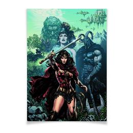 "Плакат A2(42x59) ""Чудо-Женщина (Wonder Woman)"" - комиксы, dc comics, чудо-женщина, justice league, лига справедливости"