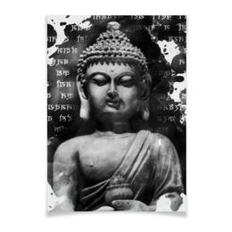 """Плакат A2(42x59) """"Будда (Письмена)"""" - философия, религия, buddha, будда, духовность"""