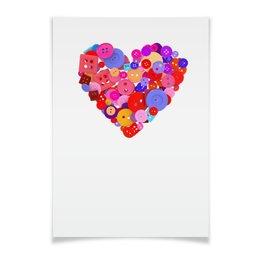 """Плакат A2(42x59) """"День всех влюбленных"""" - любовь, день святого валентина, валентинка, i love you, день влюбленных"""