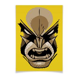 "Плакат A2(42x59) ""Росомаха"" - комиксы, росомаха, марвел, wolverine, logan"
