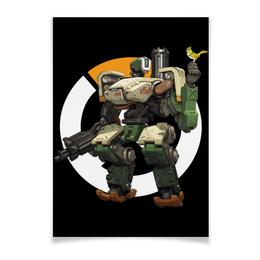 "Плакат A2(42x59) ""Overwatch Bastion / Овервотч Бастион"" - игры, overwatch, овервотч, bastion, бастион"